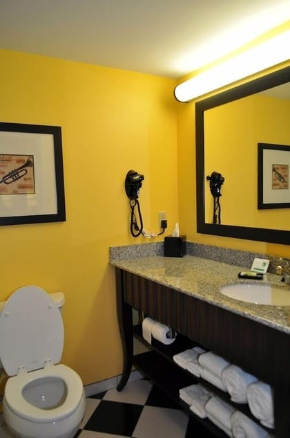 Bathroom | Evangeline Downs Hotel, an Ascend Hotel Collection Member