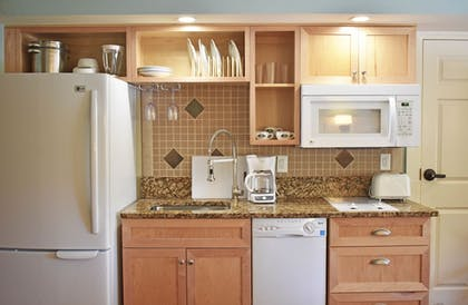 In-Room Kitchen | The Inlet Sports Lodge