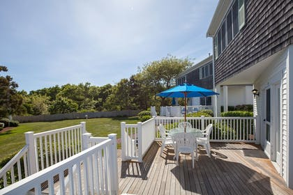 Terrace/Patio | Green Harbor Resort