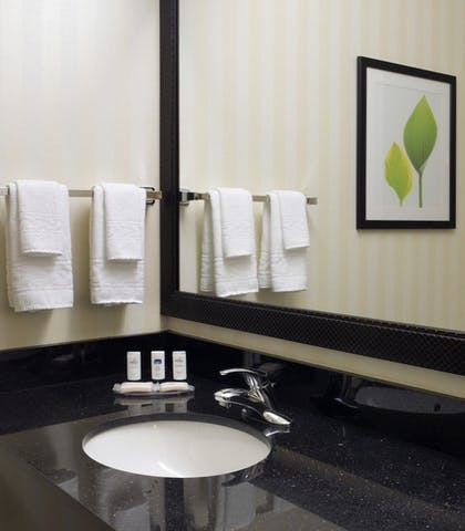 Bathroom | Fairfield by Marriott Inn & Suites Tacoma Puyallup