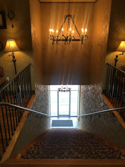 Staircase | The Campbell Hotel on Route 66