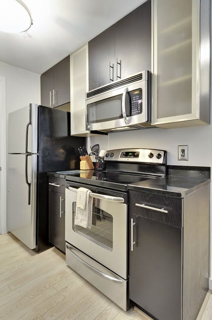 In-Room Kitchen | The Woodward Building