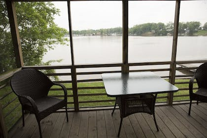 Terrace/Patio | Indiana Beach Accommodations