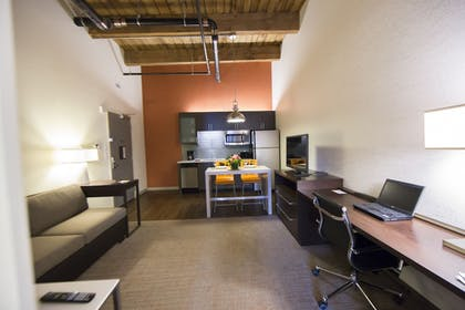 In-Room Kitchen | Residence Inn by Marriott Boston Downtown/Seaport