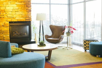Fireplace | Fairfield Inn & Suites by Marriott Chincoteague Island Waterfront