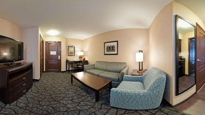 Living Area | Holiday Inn Express Hotel & Suites Butte