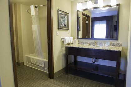 Bathroom | Hampton Inn & Suites Bismarck Northwest