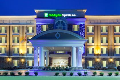 Hotel Front - Evening/Night | Holiday Inn Express Hotel & Suites Huntsville West - Research Pk