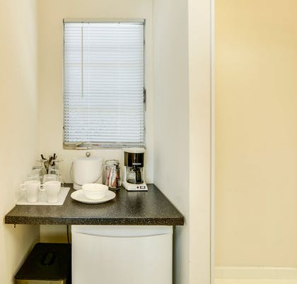 In-Room Kitchenette | The Three Fifty Hotel