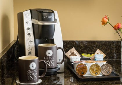 In-Room Coffee | Grand Harbor Inn