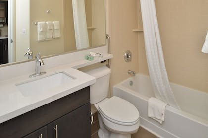 Bathroom | Candlewood Suites Eugene Springfield
