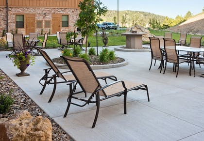 Terrace/Patio | The Lodge at Deadwood Gaming Resort