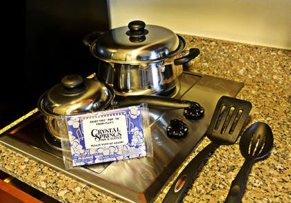 In-Room Kitchen | Crystal Springs Inn and Suites