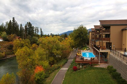 Balcony View | The Pine Lodge on Whitefish River, Ascend Hotel Collection