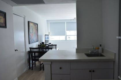 In-Room Kitchenette | New Point Miami Beach Apartments