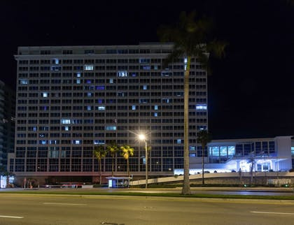 Hotel Front - Evening/Night | New Point Miami Beach Apartments