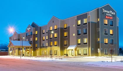 Hotel Front - Evening/Night | Towneplace Suites Anchorage Midtown
