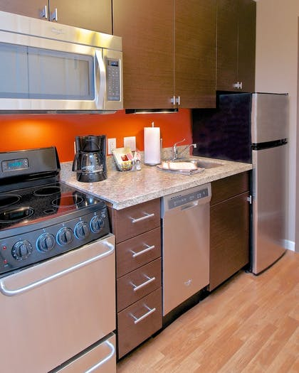 In-Room Kitchen | Towneplace Suites Anchorage Midtown